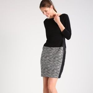 Ralph Lauren Vasha two-toned mixed media dress